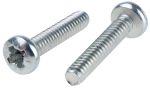 Product image for Steel cross pan head screw,6-32x3/4in