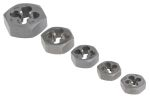 Product image for 5 piece metric die nut set,M5-M12