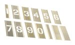 Product image for Interlocking brass stencilset,1in 0 to 9