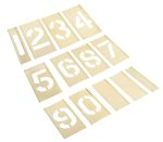 Product image for Interlocking brass stencilset,2in 0 to 9