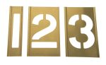Product image for Interlocking brass stencilset,3in 0 to 9