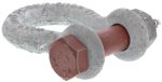 Product image for Galvanised bowshackle w/safetypin,1.5ton