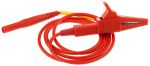 Product image for Red plug to crocodile clip lead,4mm