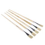 Product image for Flat fitch detail paint brush,No.10