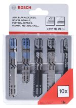 Product image for 10 piece T-shank jigsaw blade set