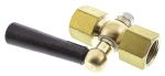 Product image for Brass gauge cock,3/8in BSP F-F