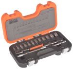 Product image for 16 piece 1/4in drive metric socket set