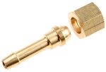 Product image for Brass oxygen nut & tail,1/4in x 1/4in