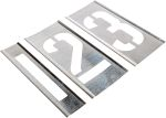 Product image for Interlocking zinc stencil set,4in 0 to 9