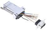 Product image for 9 way modular RJ45 jack adaptor, D plug