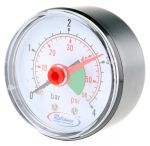 Product image for Pressure gauge,0 - 4bar 1/4in BSPT M