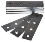 Product image for Zinc plated steel straight flat bracket
