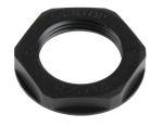Product image for Locknut, nylon, black, M25, IP68