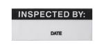 Product image for Black metallised label 'INSPECTED BY'