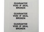 Product image for SAV label 'GUARANTEE.BROKEN',38x12.7mm
