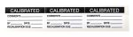 Product image for Black large writeon label 'CALIBRATED'