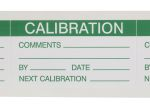 Product image for Green vinyl write-on label 'CALIBRATION'