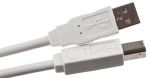Product image for USB type A to B cable assembly,3.34m