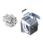 Product image for 3 way panel mount straight metal socket