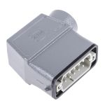 Product image for 10way+E side entry cable hood metal plug