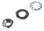 Product image for NiPt brass nut & washer kit,M4