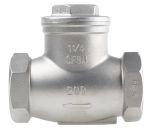 Product image for S/steel swing check valve,1 1/4in BSP F