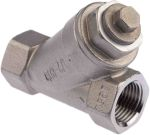 Product image for S/steel Y strainer valve,1/2in BSPP F-F