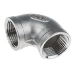 Product image for S/steel 90deg equal elbow,3/4in BSP F-F