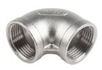 Product image for S/steel 90deg equal elbow,1in BSP F-F