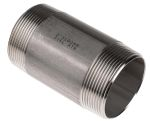 Product image for S/steel barrel nipple,2in BSPT M-M