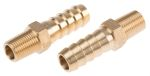 Product image for Brass hose tail,1/8 BSPP male 3/8in ID