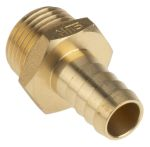 Product image for Brass hose tail,1/2 BSPP male 1/2in ID