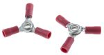 Product image for Crimp connector 3 way red