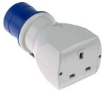 Product image for Adaptor,2P+E, IEC 309 to UK13A, 3-pin