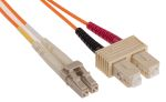 Product image for LC-SC patchlead OM1 Duplex Orange 3m