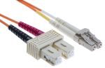 Product image for LC-SC patchlead OM1 Duplex Orange 2m