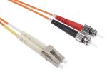 Product image for LC-ST patchlead OM1 Duplex Orange 2m