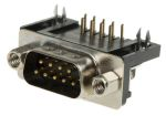 Product image for 9 way right angle ground plug connector