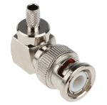 Product image for crimp BNC r/a plg for RG58 cable,50ohm
