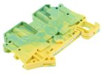 Product image for 4 way 4mm screw terminal - earth grn/yel