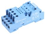 Product image for Socket DIN, blu, 8 pin for 55.32 relays