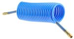 Product image for Blue nylon airline coil,12.5ft Lx10mm OD