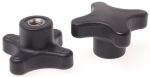 Product image for Cross Knob with S/S Insert,M8x12,50dia