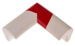 Product image for Corner protection white/red 30x30mm