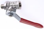 Product image for Lever handle ball valve 1/4in M-F