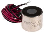 Product image for 30mm Dia. 24V Electro Holding Magnet