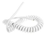 Product image for White PVC 3 core coiled mains cable, 13A
