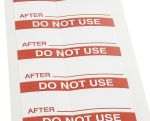 Product image for Red vinyl cloth label 'DO NOT USE'