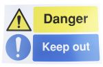 Product image for PP sign 'Danger keep out', 300 x 500mm