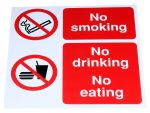 Product image for PP sign'No smoking..No eating',300x300mm